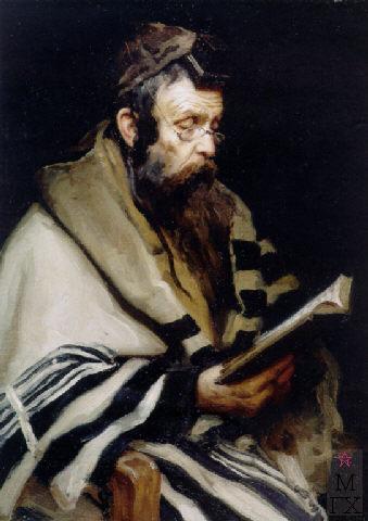 А.А. Куренной. Молящийся раввин. 1899 Х.М. 76.2х55.9.