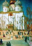 Праздничный день. 1903. Картон, темпера. Государственный Русский музей.